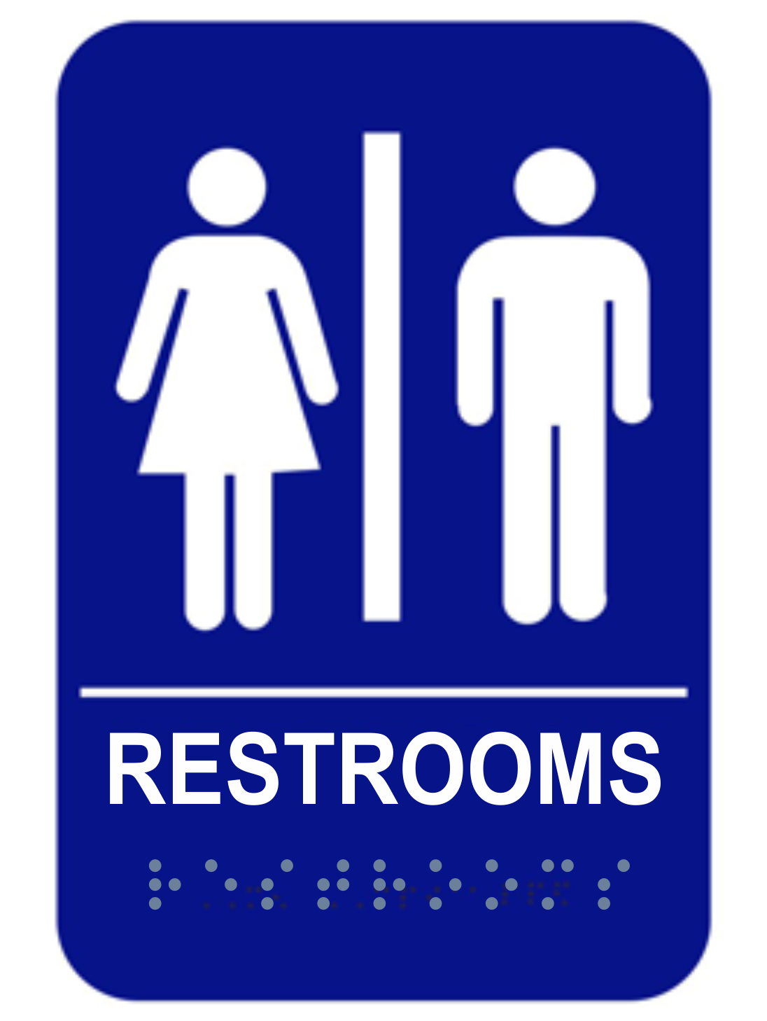 ADA Braille Unisex Restroom Sign