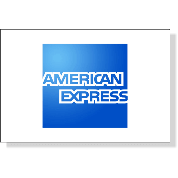 "American Express Decal | 2"" x 3"""