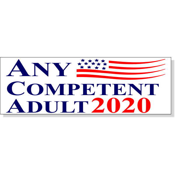 """Any Competent Adult Bumper Sticker 