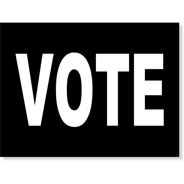 Black Vote Yard Sign