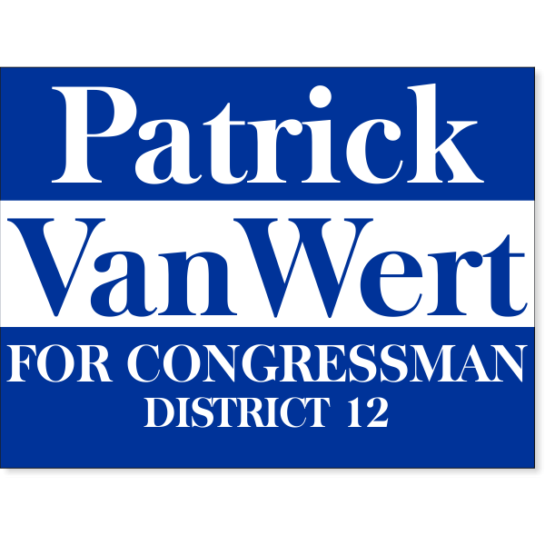 "Blue Election Yard Sign | 18"" x 24"""