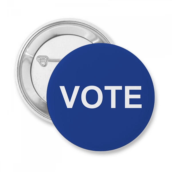 Blue Vote Button