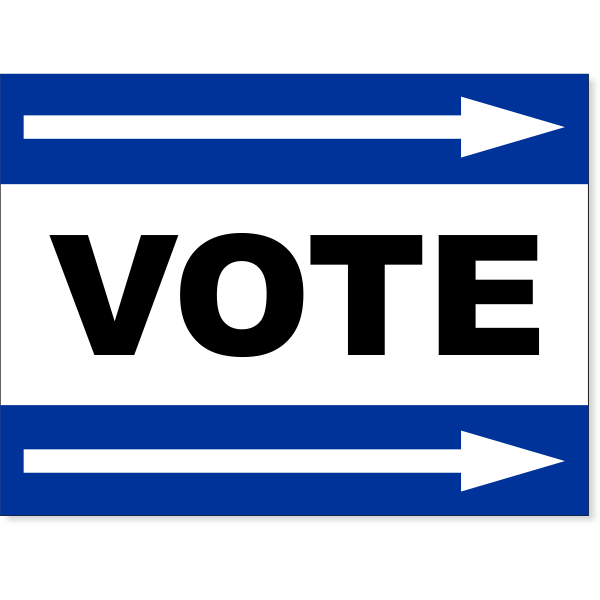 "Blue Vote Right Arrow Yard Sign | 18"" x 24"""