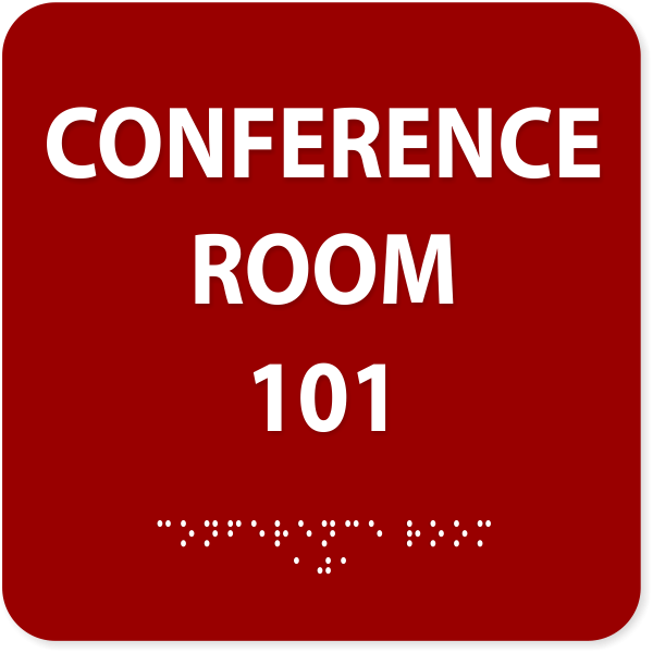 Conference Room ADA with Braille Sign