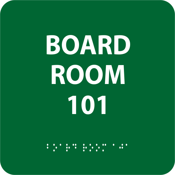 Board Room ADA with Braille Sign