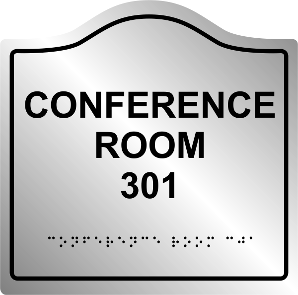 Interior Office Arched ADA Braille Sign