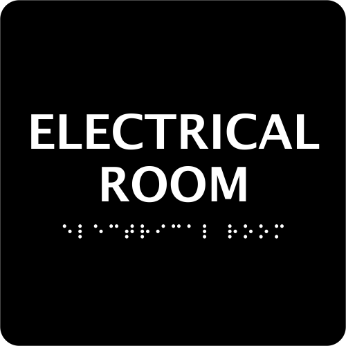 ADA Braille Electrical Room Sign