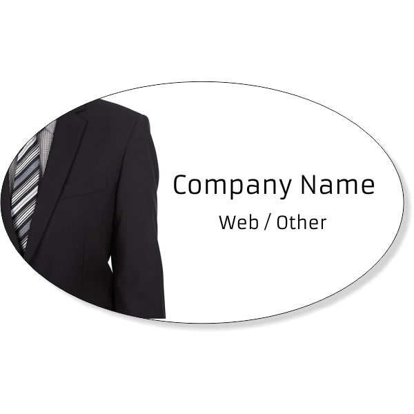 "Business Man Suit Oval Bumper Sticker | 3"" x 5"""