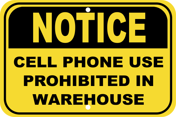 Cell Phone Warehouse Sign