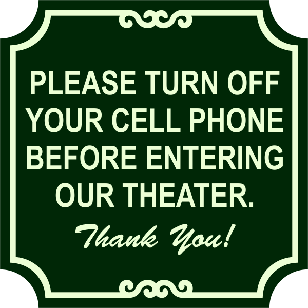 Ornate Theater Phone Sign