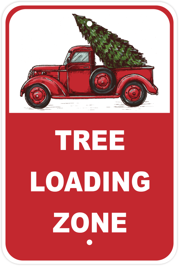 Tree Loading Zone Parking Sign