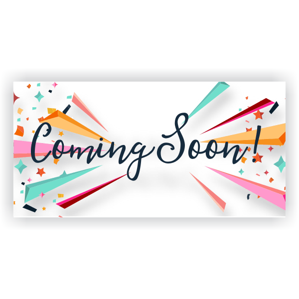 Confetti Coming Soon Banner