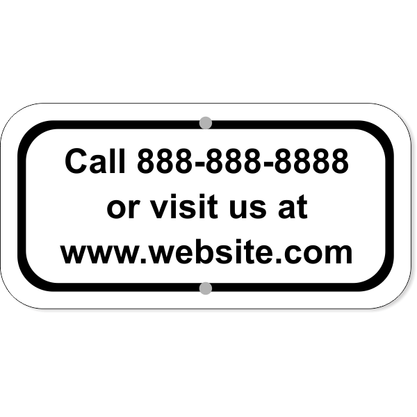 Contact Information Aluminum Add-On Sign | 6