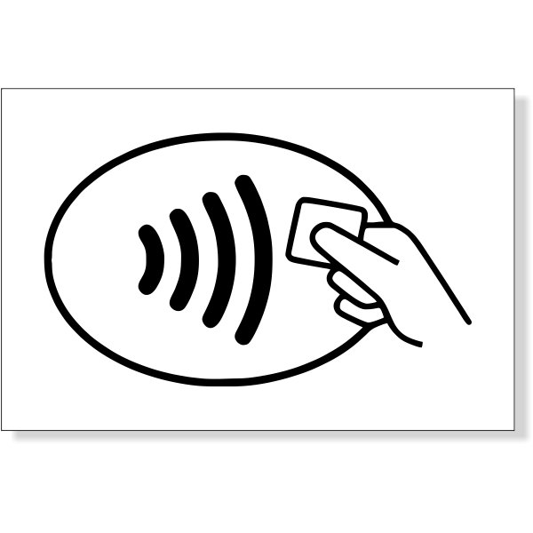 "Contactless Icon Decal | 2"" x 3"""