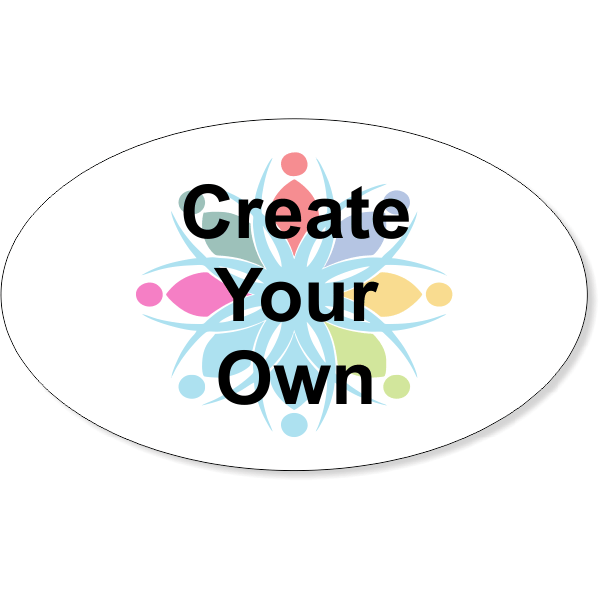 Create Your Own Oval Full Color Bumper Sticker | 3