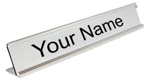 Custom Engraved Silver Desk Name Plate 1 Quot X 8 Quot Custom Sign