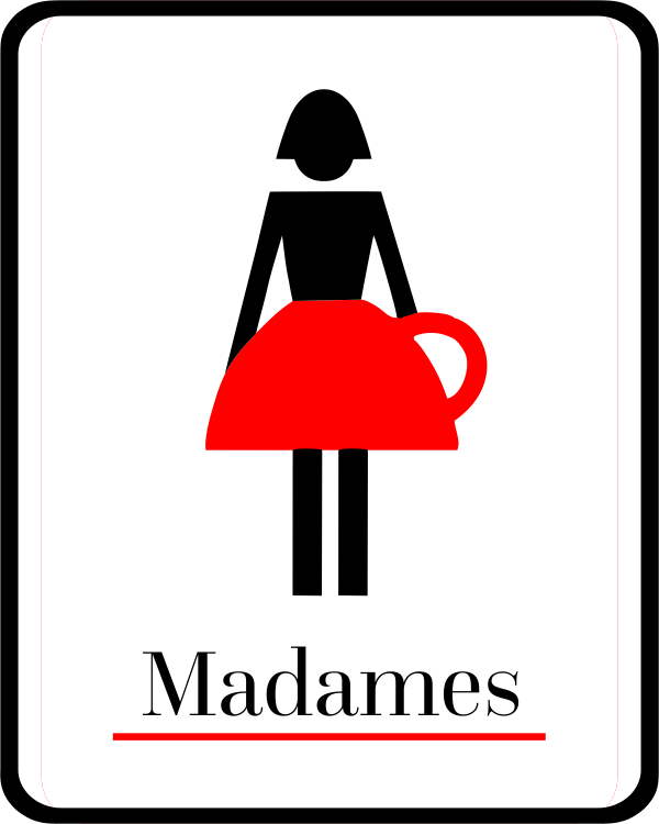 Custom Full Color Ladies' Bathroom Unique Coffee Mug Sign