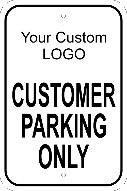 Custom Business Logo Visitor Parking Sign