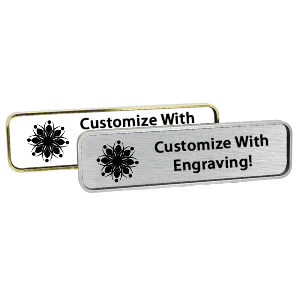 Executive Wall Nameplate Holder with Engraved Insert (Rounded Corners) 2