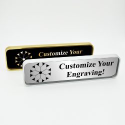 Executive Wall Nameplate Holder with Engraved Insert (Rounded Corners)