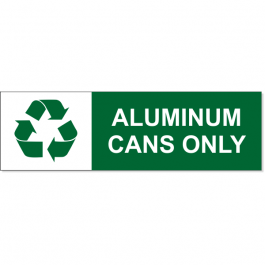 Aluminum Can Recycle Decal | 3
