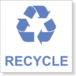 Blue Recycle Decal | 3