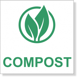 Green Compost Decal | 3