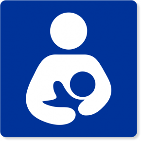 Lactation Room Square Icon Engraved Sign