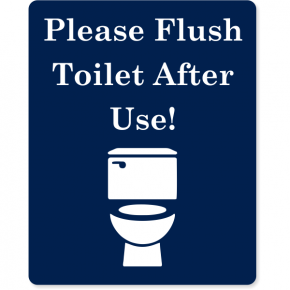 "Flush Toilet After Use Engraved Plastic Sign | 10"" x 8"""