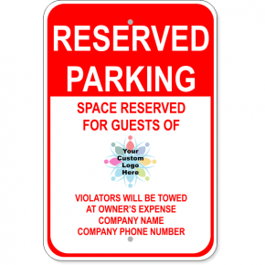 Aluminum Reserved Parking Sign