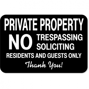 "Residents & Guests Only Aluminum Sign | 12"" x 18"""