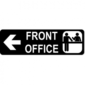"Front Office Sign | 3"" x 10"""
