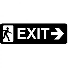 "Exit Right Sign | 3"" x 10"""