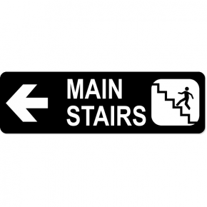 "Stairs Left Sign | 3"" x 10"""