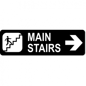 "Stairs Right Sign | 3"" x 10"""