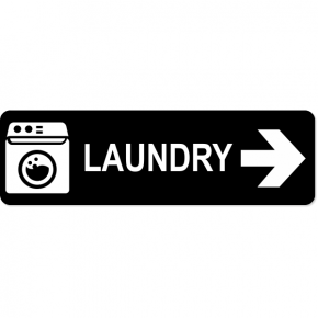 "Laundry Right Sign | 3"" x 10"""