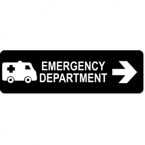 "Emergency Department Right Sign | 3"" x 10"""