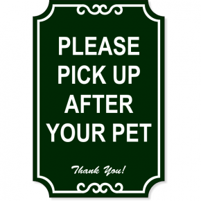 "Pick Up Engraved Plastic Sign | 18"" x 12"""