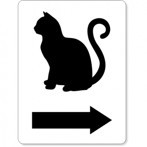Engraved Rectangle Funny Women's Restroom Cat Sign