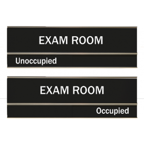 "Black Exam Room Slider Signs 3"" x 8"""