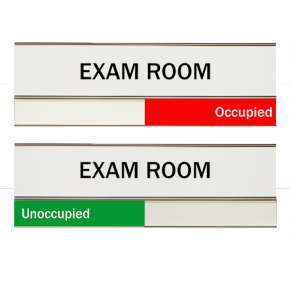 "White Exam Room Slider Signs 3"" x 8"""