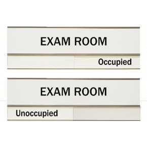 White Exam Room Slider Sign