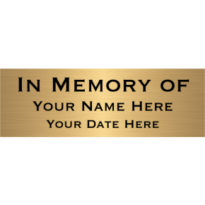 "In Memory Of Brass Plates | 2"" x 6"""
