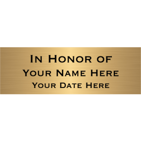 "In Honor Of Brass Plates | 2"" x 6"""