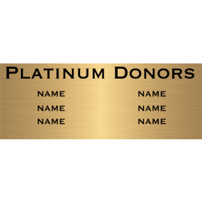 "6 Name Brass Plates | 3"" x 12"""