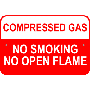 "Compressed Gas Aluminum Sign | 12"" x 18"""