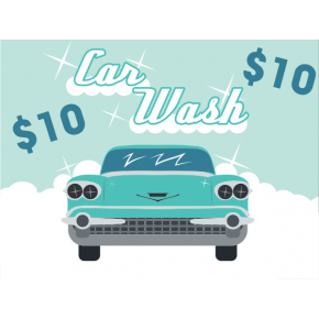Vintage Car Wash Sign