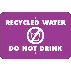 Horizontal Do Not Drink Recycled Water Sign