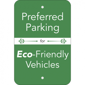 Vertical Eco Parking Conserve Sign