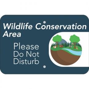 Horizontal Wildlife Conservation Sign